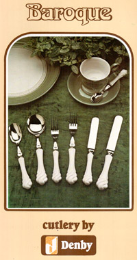 Baroque cutlery by Denby