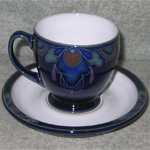 Denby Cup and saucer Baroque style