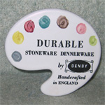Denby Pottery advertising plaque