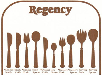 Regency Cutlery Denby pottery